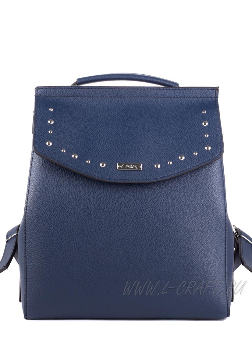 Модель №1390 | кожзам | гладкий | синий | Р816-8 | 24919