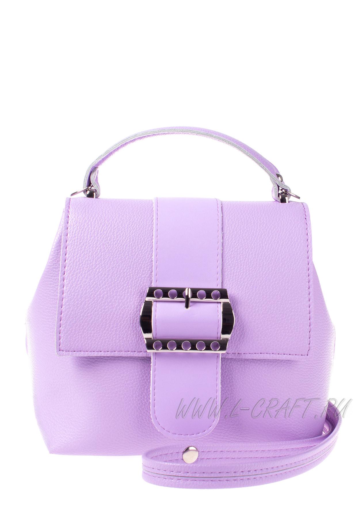 Модель №V139 | кожзам | гладкий | фиолетовый | Р807-6 | 25606